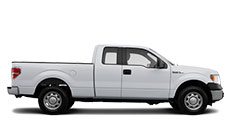 white pick up automobile